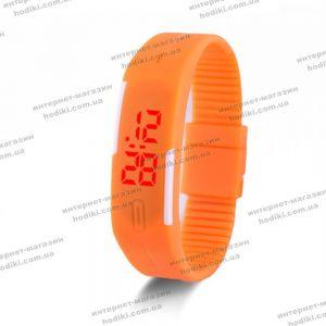 Наручные часы Led силикон оранжевые (код 12060)