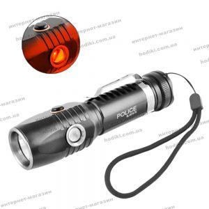 Фонарь Police BL-8519-T6+1red, 1x18650, ЗУ micro USB, зажим, ремешок на руку, комплект (код 12933)