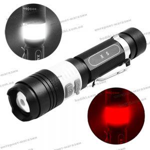Фонарь Police  X5-T6, zoom, 1x18650, ЗУ USB, светильник, зажим, комплект (код 12945)