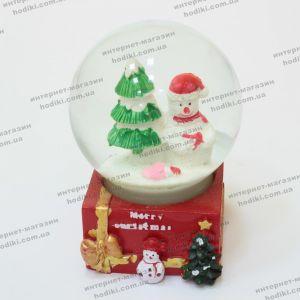 Новогодний снежний шар с подсветкой (код 14737)