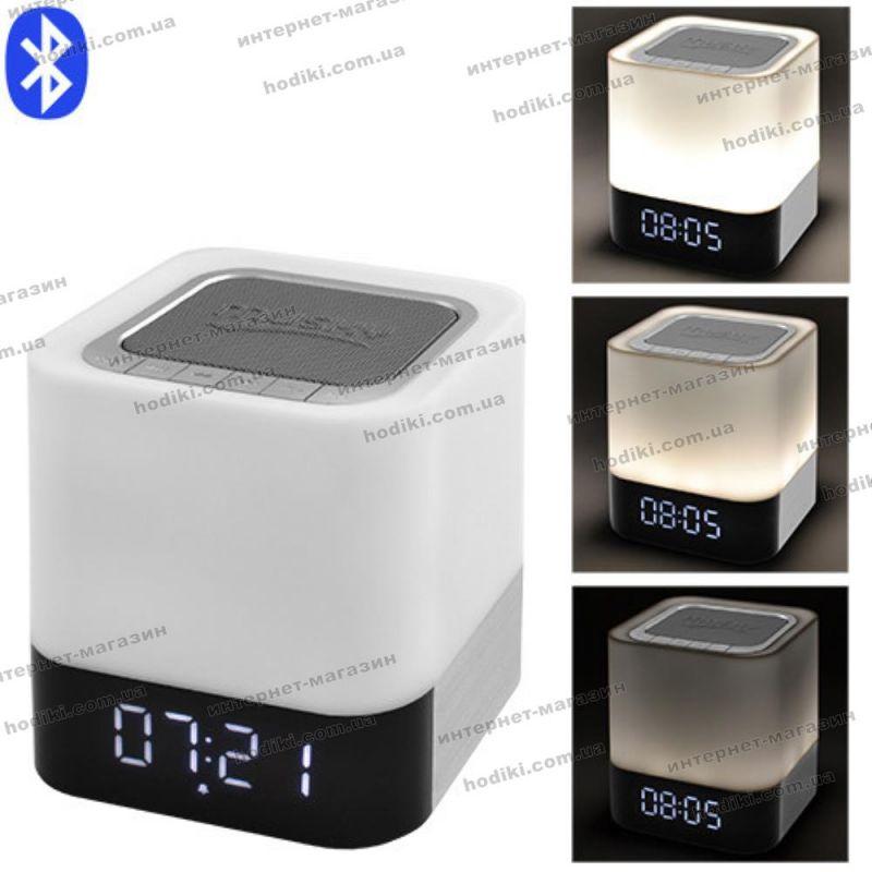 Bluetooth-колонка DY28, c функцией PowerBank, светильник (сенсорный), часы, будильник (код 16346)