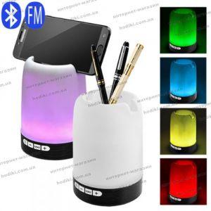 Bluetooth-колонка HF-Q6, подставка под телефон, стакан для ручек, светильник, радио, speakerphone (код 16348)