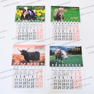 """Магнит - календарь """"Бык символ 2021 года"""" 10шт/уп (код 23364)"""