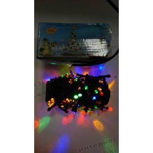 Гирлянда-линза LED 100 разноцветная (код 2508)