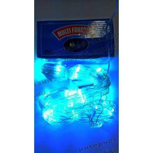 Гирлянда-сетка LED 200 синяя (код 2512)