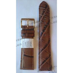 Ремешок для часов Nagata 22мм коричневый (код 3130)