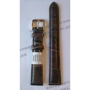 Ремешок для часов Nagata 16мм коричневый (код 3148)