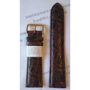Ремешок для часов Nagata 22мм коричневый (код 3141)