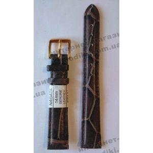 Ремешок для часов Nagata 14мм коричневый (код 3151)
