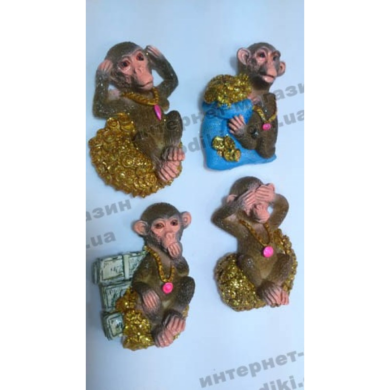 Магниты на холодильник Обезьянки №М-017 (код 3427)