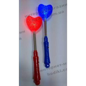 Палка-светяшка Сердце CR2711 12шт/уп (код 3642)