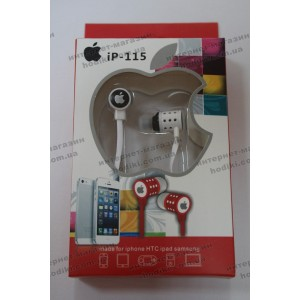 Наушники вакуум iPhone IP-115 white (код 4914)
