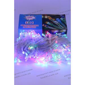 Гирлянда 200 led разноцветная силиконовый шнур (код 6375)