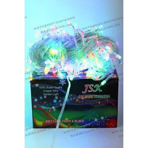 Гирлянда 300 led разноцветная силиконовый шнур (код 6376)