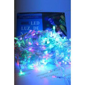 Гирлянда 400 led разноцветная силиконовый шнур (код 6377)