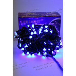Гирлянда 100 led синяя матовая (код 6379)