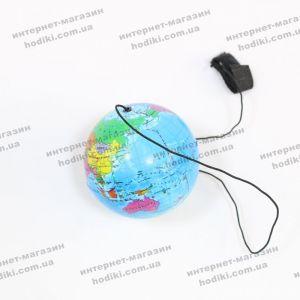 Шарик на резинке Глобус 12шт/уп (код 8223)